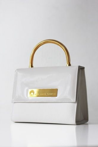 Allaroundeve Jackie Bag In White Patent Leather Handbag Purse