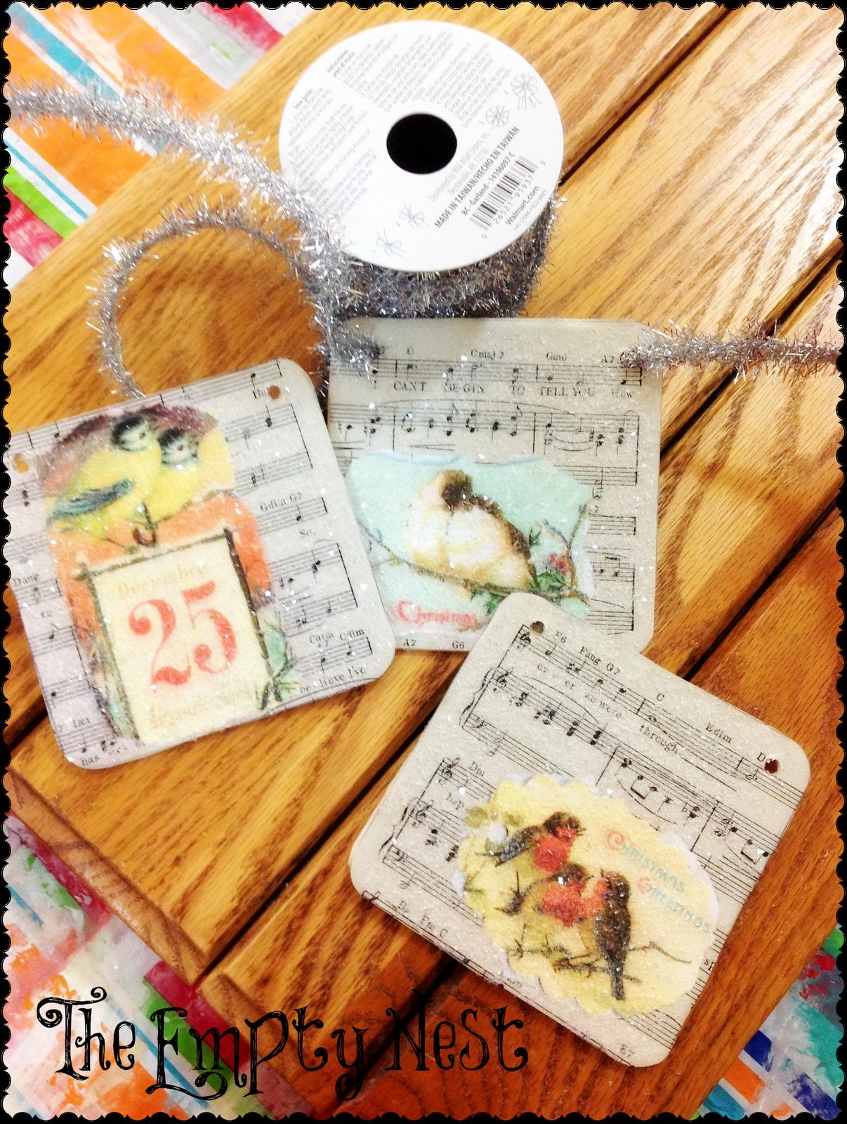 Empty Nest Christmas Card Ideas : empty, christmas, ideas, Getting, Ready, Holidays, Vintage, Christmas, Cards,, Sheet, Music, Crafts,