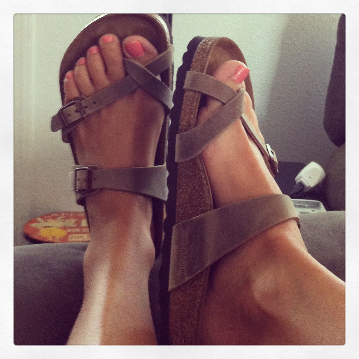 Birks - Mayari Tobacco Oiled Leather Grey Sandals c3a0d84a642