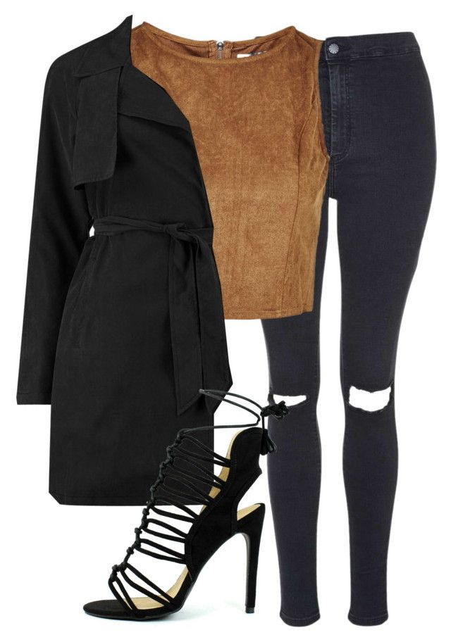 """""""busted knee jonis - jerrie insp"""" by littlemixmakeup ❤ liked on Polyvore featuring Topshop, women's clothing, women, female, woman, misses and juniors"""