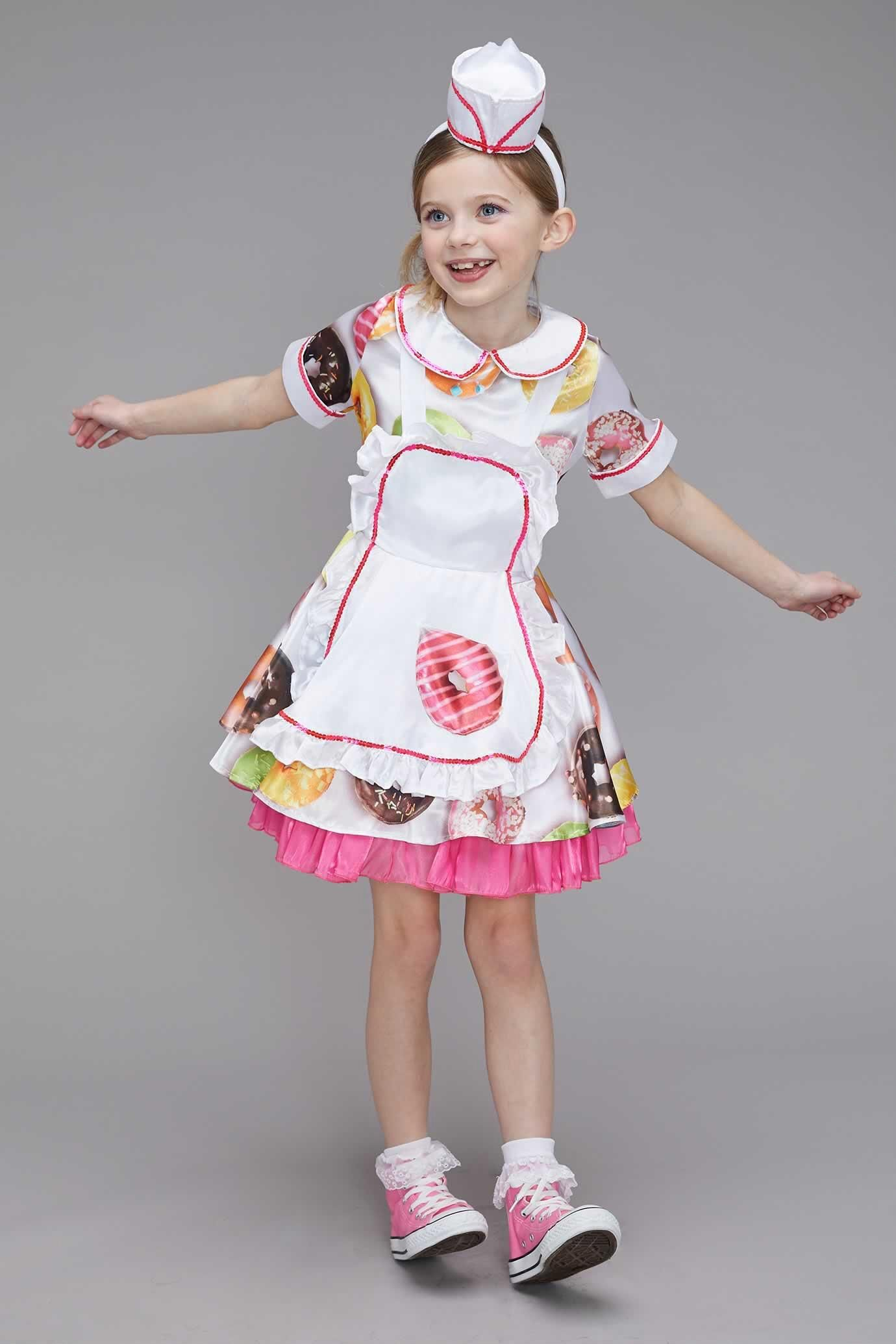 d0148a9fbb33 Donut Waitress Costume for Girls   Chasingfireflies  59.00 10.00 40.00 -   60.00