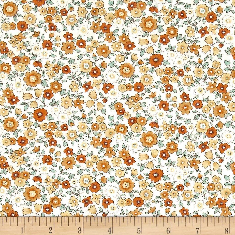 Kaufman Sevenberry Petite Garden Med Flower Spray Summer - Discount Designer Fabric -  Fabric.com