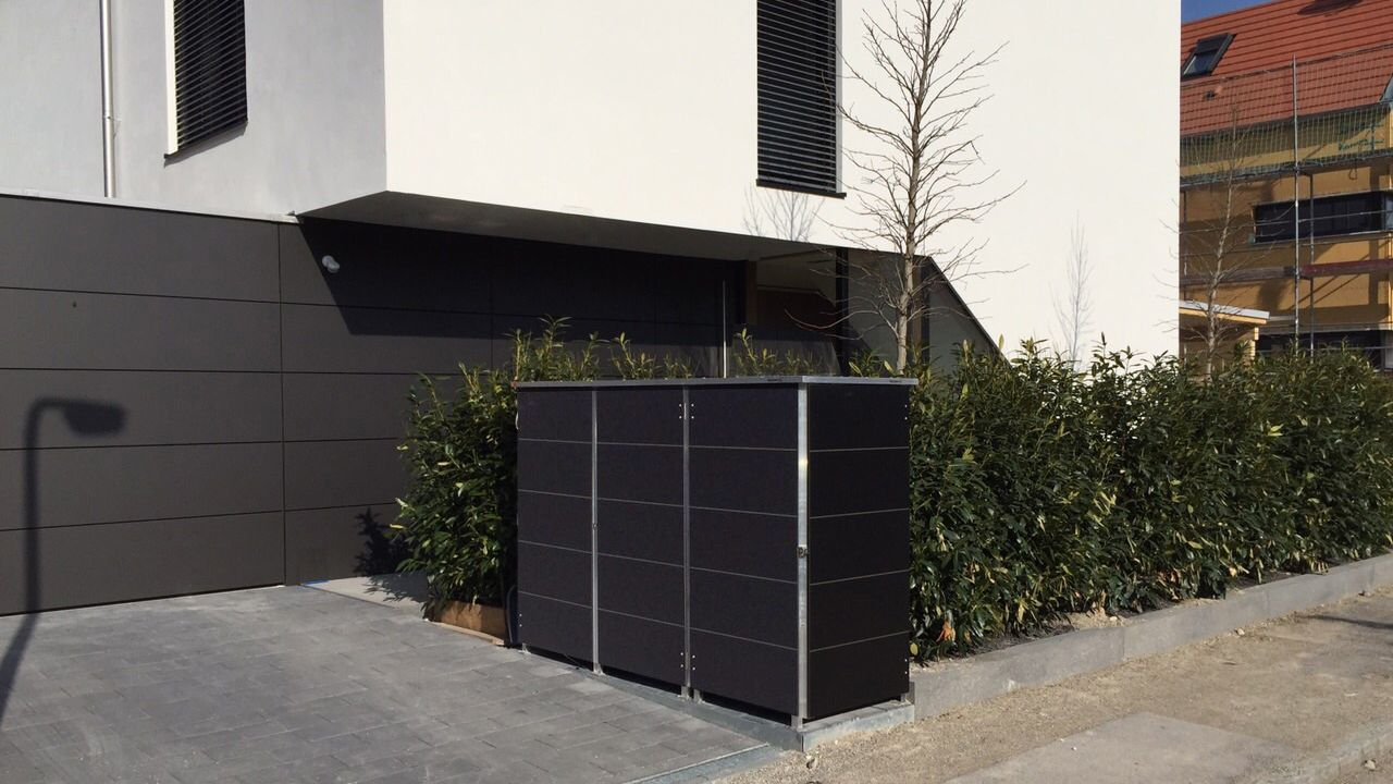 m llbox f r moderne architektur aus trespa komplett wartungsfrei von garten q m llbox. Black Bedroom Furniture Sets. Home Design Ideas