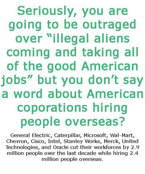 Good American jobs Immigration vs corporate offshoring - jobs that are left