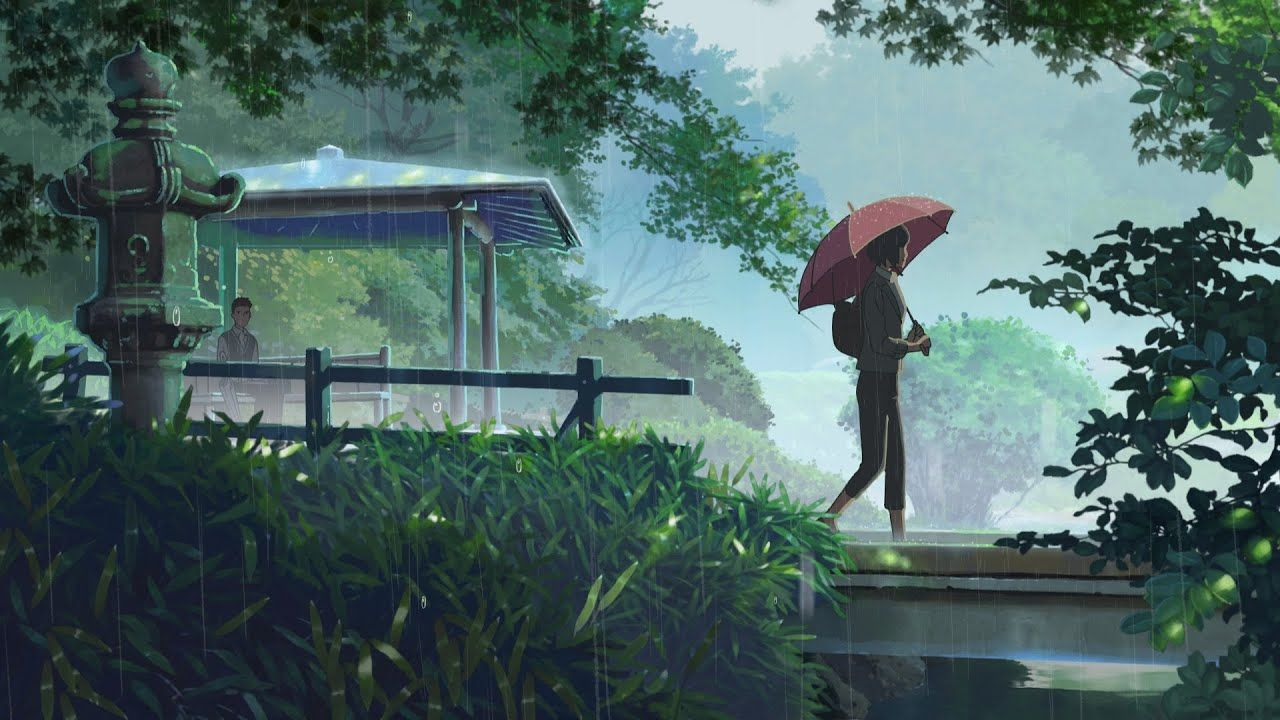 Relaxing Sleep Music Soft Rain Sounds Relaxing Music Peaceful Piano Poem Of Rain Youtube Garden Of Words Hd Anime Wallpapers Anime Wallpaper Download