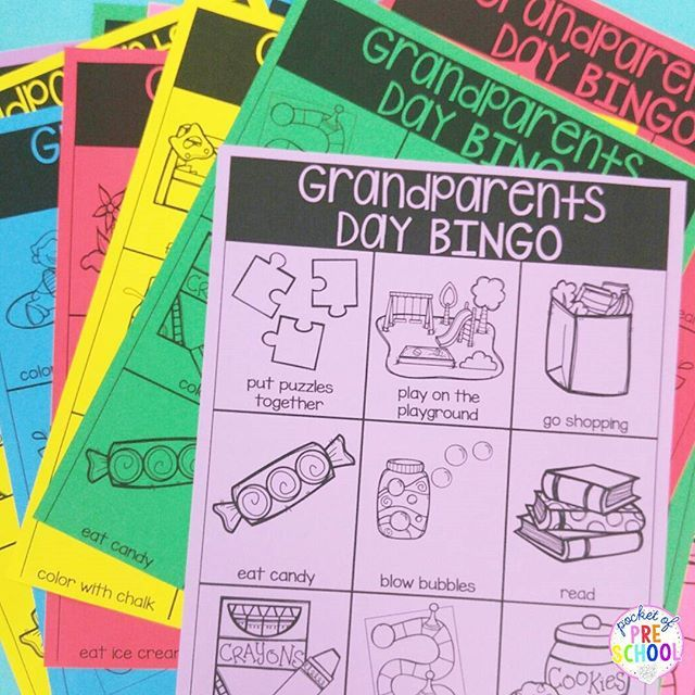 Grandparents Day Banners Cards Bingo Games Kid Book
