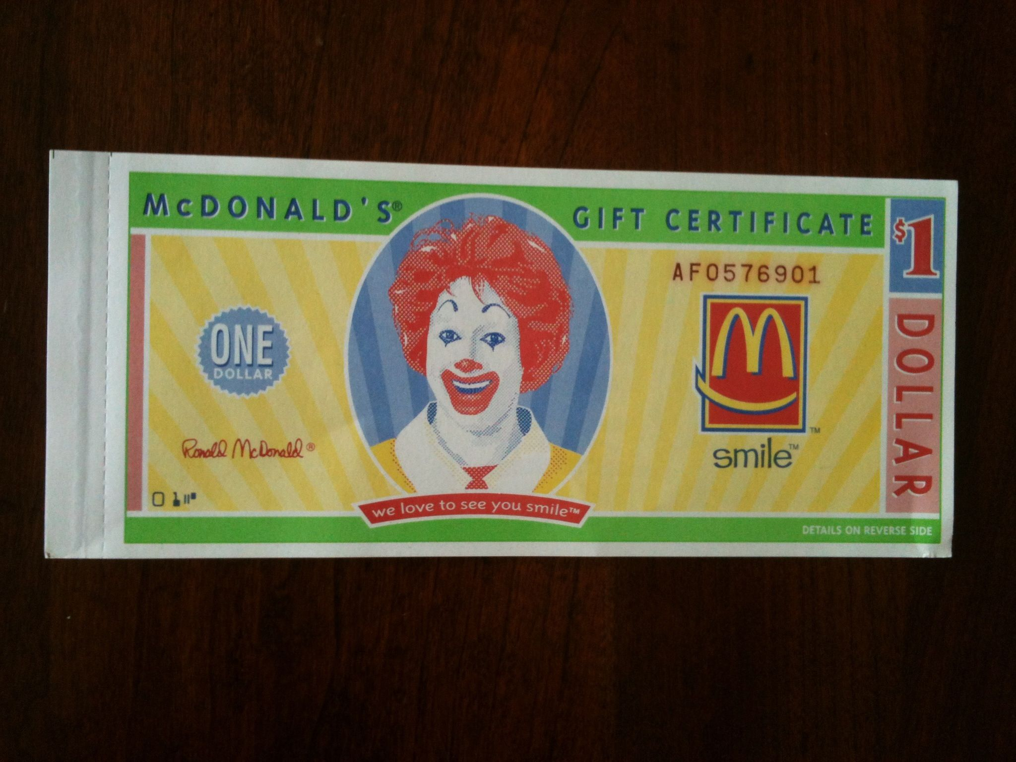 Mcdonalds gift certificates favorite things pinterest gift mcdonalds gift certificates 1betcityfo Image collections