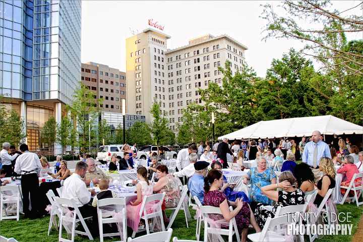 The Myriad Gardens Botanical Oklahoma City Wedding