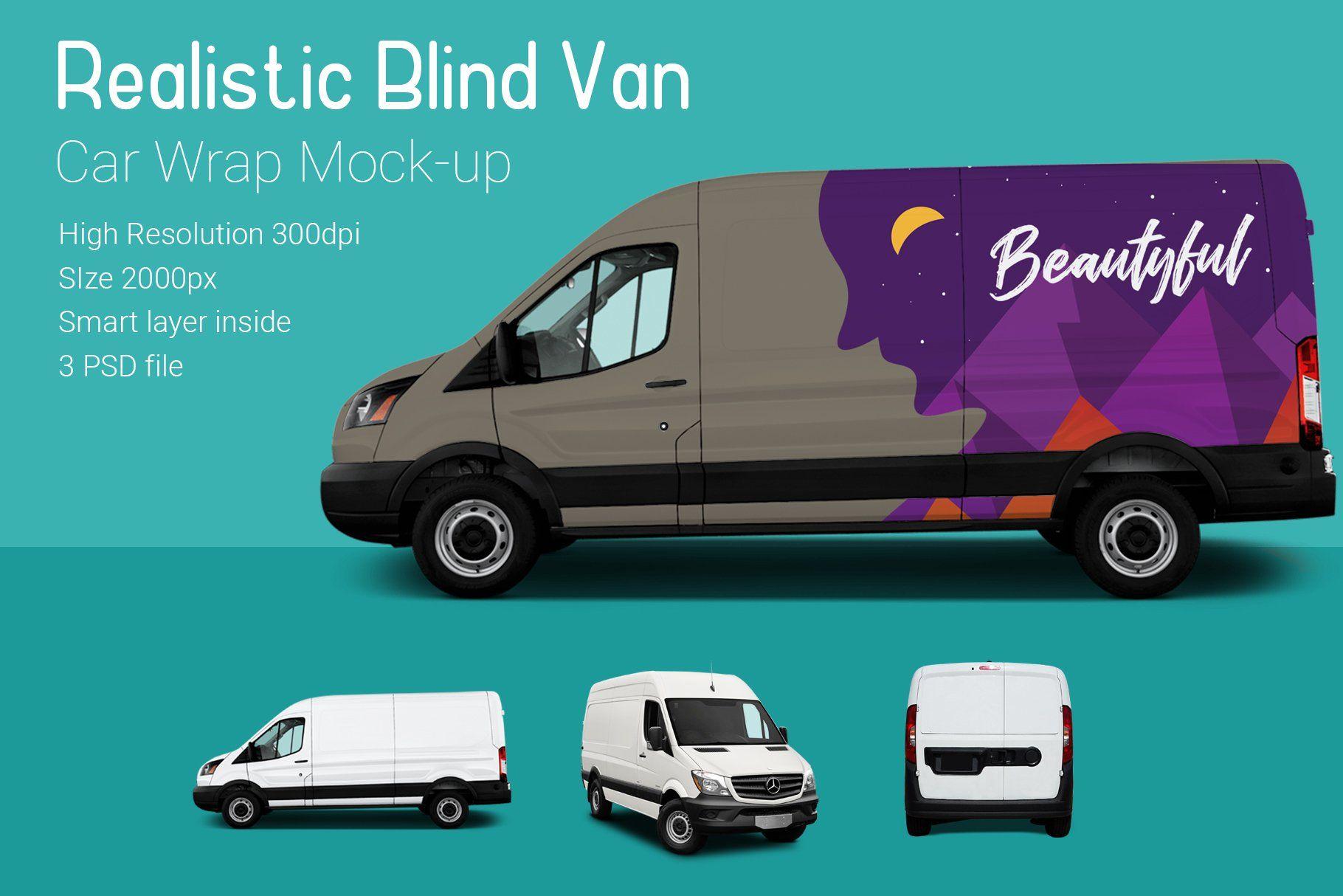 Blind Van Car Mock Up