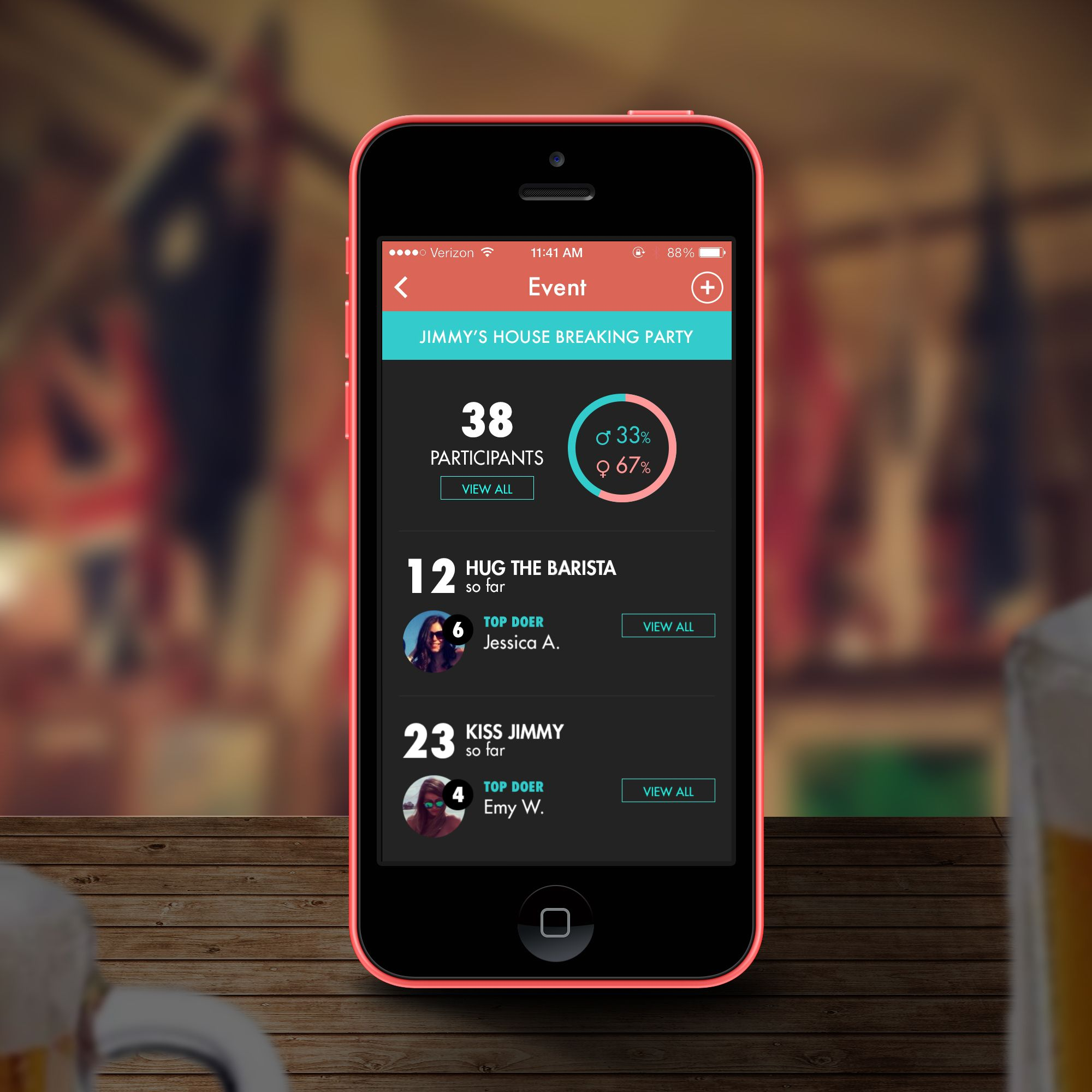Mobile App Design By Marcor Potd99 12 14 2013 Colors Social Events Mobile App Design Mobile App App Design