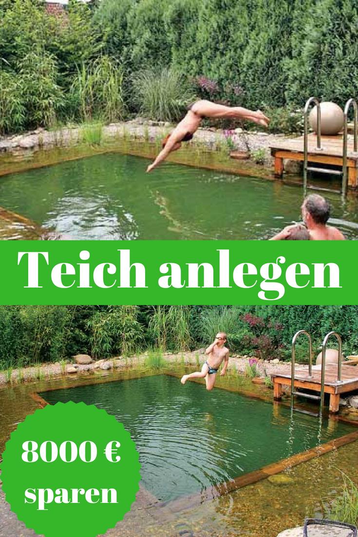 schwimmteich anlegen | gartenteich, springbrunnen etc. | pinterest