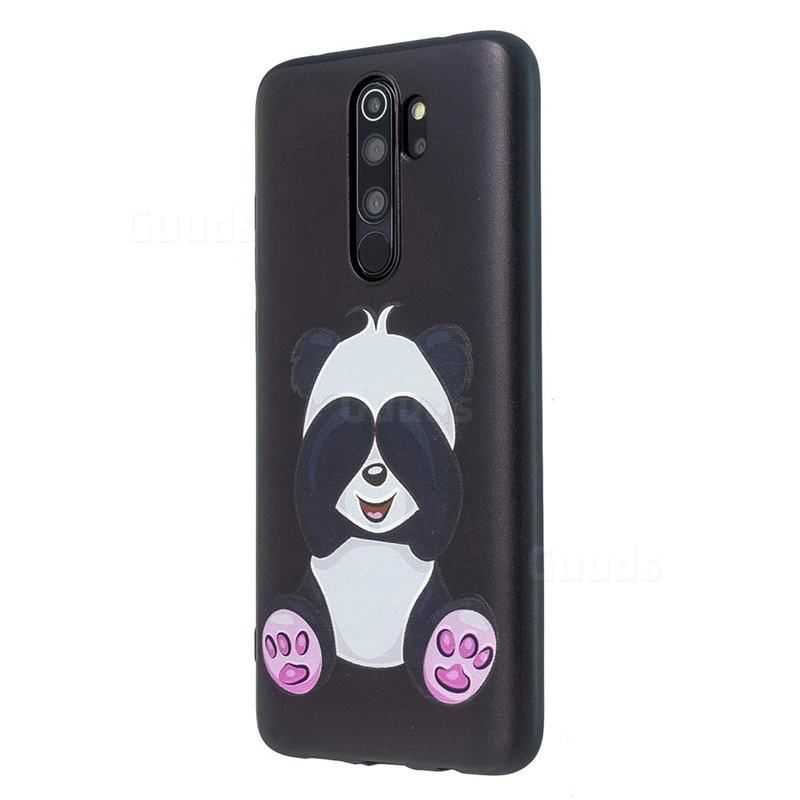 Lovely Panda 3d Embossed Relief Black Soft Back Cover For Mi Xiaomi Redmi Note 8 Pro Xiaomi Redmi Note 8 Pro Cases Guuds Panda 3d Panda Soft