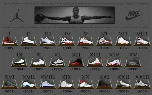 A rather complete list of jordans.