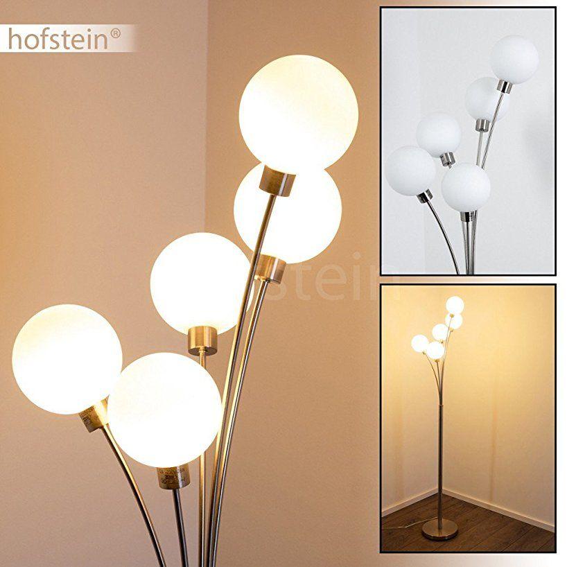 Stehlampe Bernado - Deckenfluter LED mit 5 Echtglaskugeln - Moderner