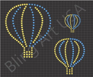 Hot Air Balloon Rhinestone Files Templates Patterns Balloon Bling Art Colorful Balloons Stencil Gas Balloon Sticky Flock Easy