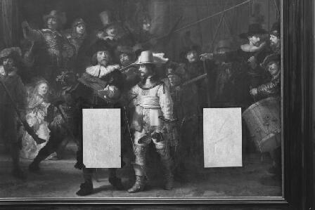Tratamiento tras el ataque con cuchilla de 1975. Civic guardsmen of Amsterdam under command of Banninck Cocq