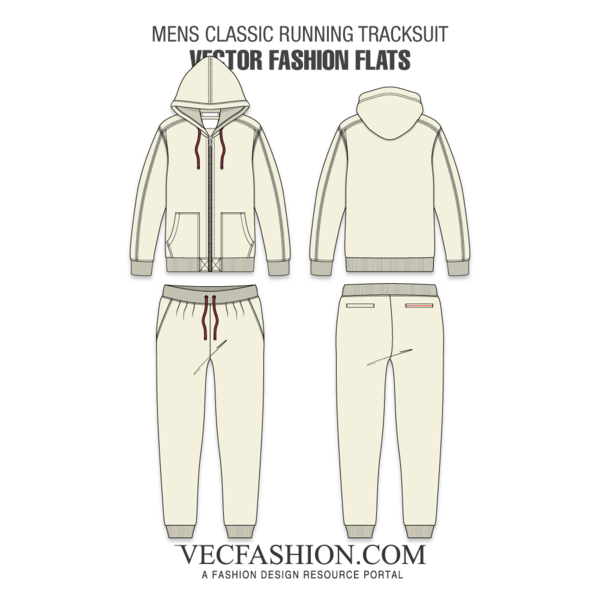 Mens Classic Running Tracksuit | Apparel Vector in 2019