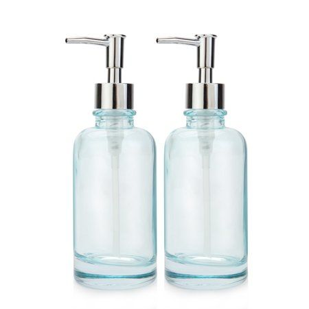 Home Blue Glass Bottles Soap Lotion