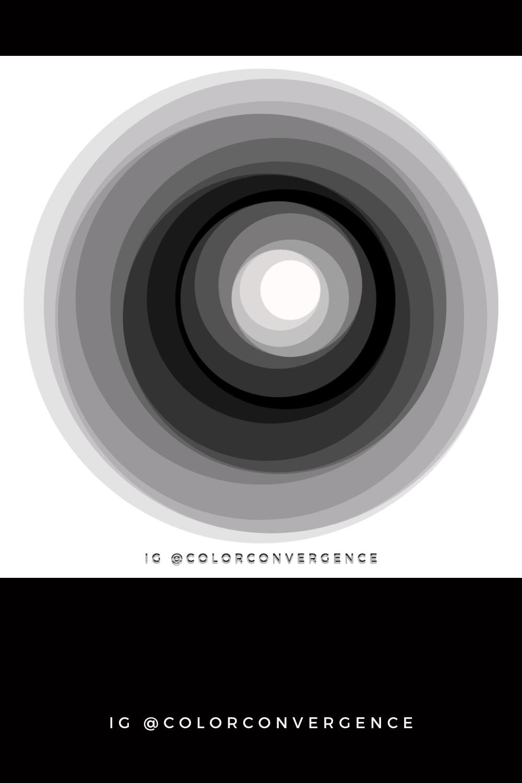 Black And Gray Circles Color Wheel Color Pop Circle Shape