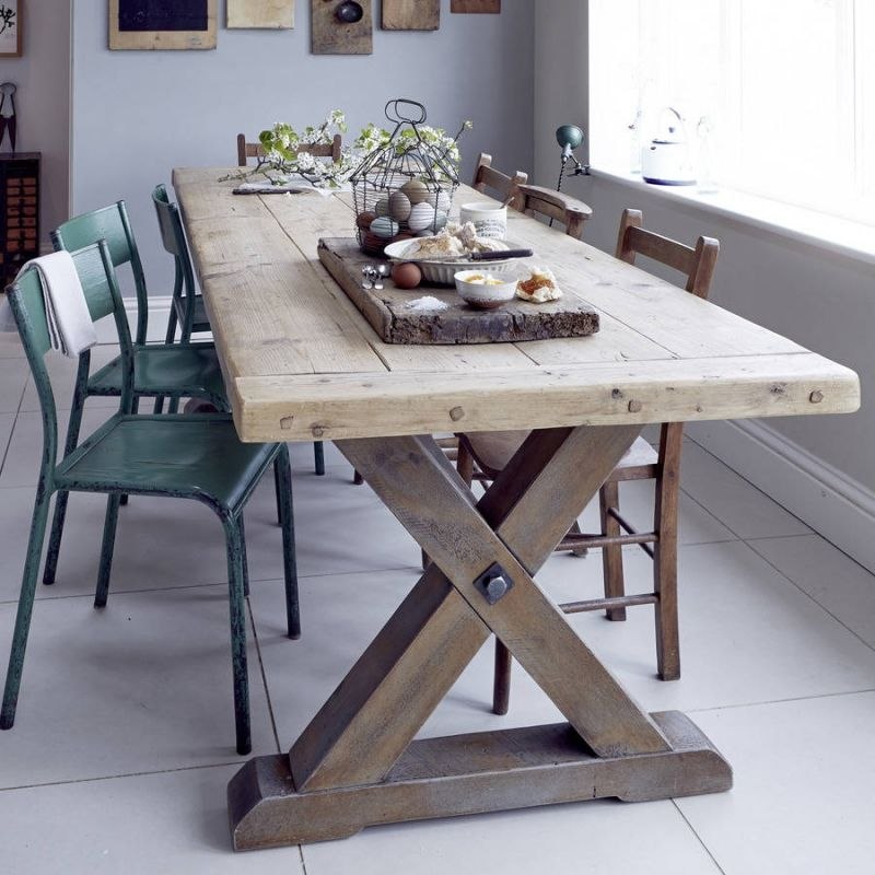 Wonderful Reclaimed Timber Dining Table Country Home Barn Recycled