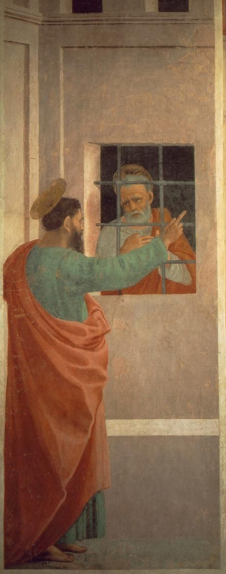LIPPI, Filippino Italian Early Renaissance (ca.1457-1504)_St Paul Visits St Peter in Prison 1481-82