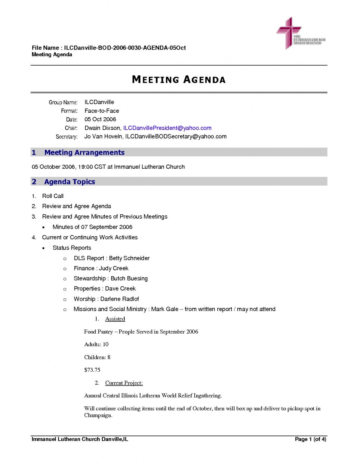 free 30 best church ministry meeting agenda template for free by ...