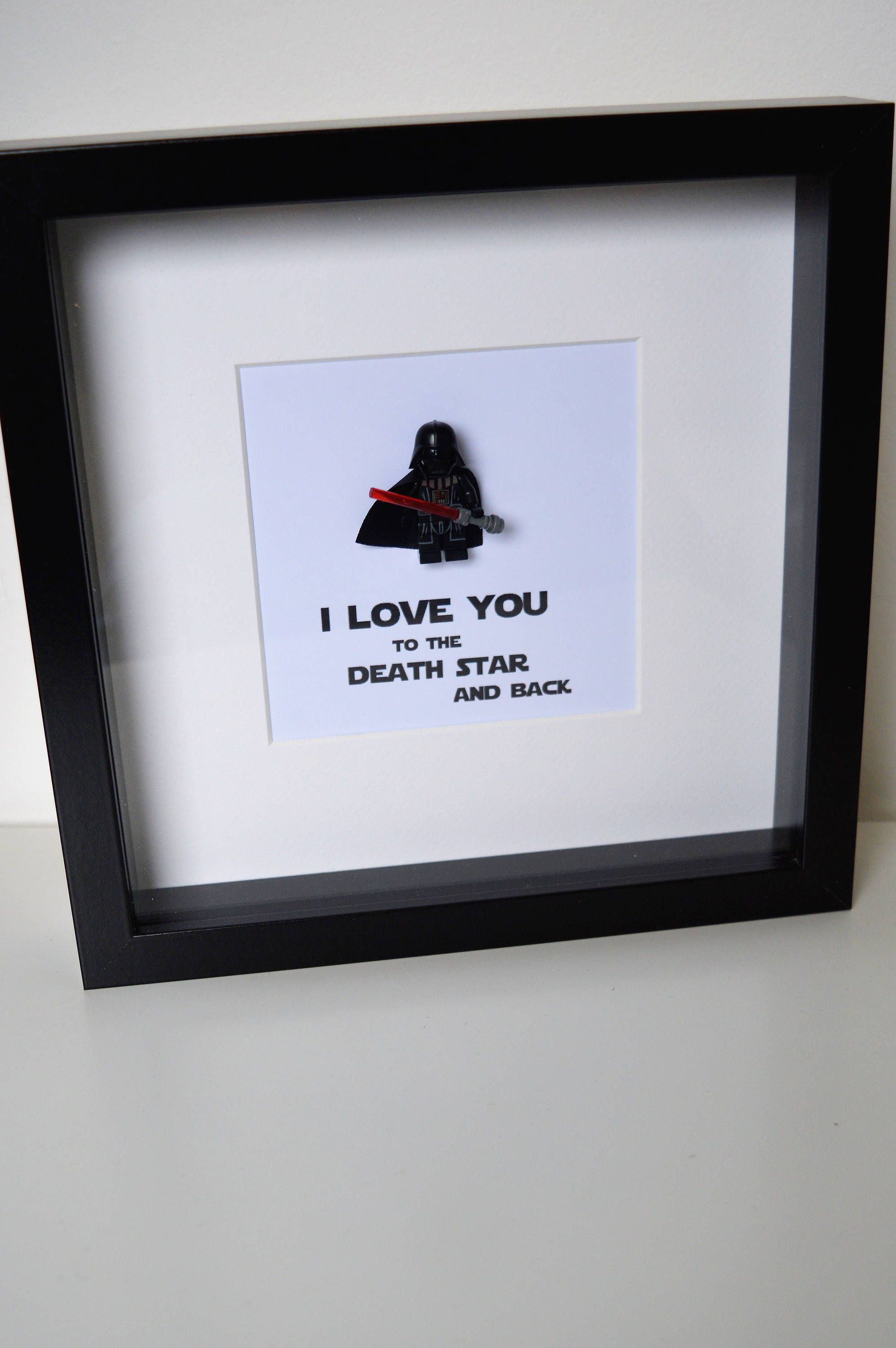 Shadow Box Frame//Star Wars//Darth Vader//Minifigures//Personalise ...
