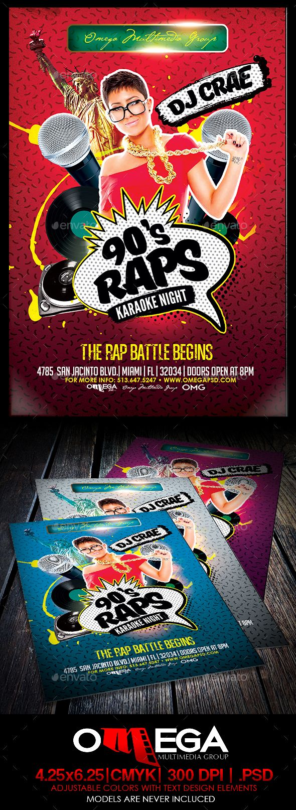 S Rap Karaoke Night  Karaoke Flyer Template And Template