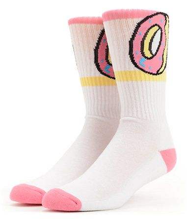 5969729441dc37 Odd Future Donut White   Pink Crew Socks at Zumiez   PDP