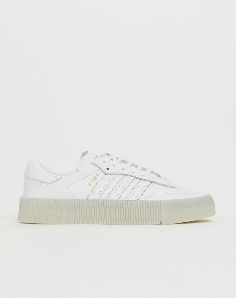 873f23f6 adidas Originals Samba Rose Sneakers In Triple White - Womens | Clothing,  Shoes & Accessories, Women's Shoes, Athletic Shoes | eBay!