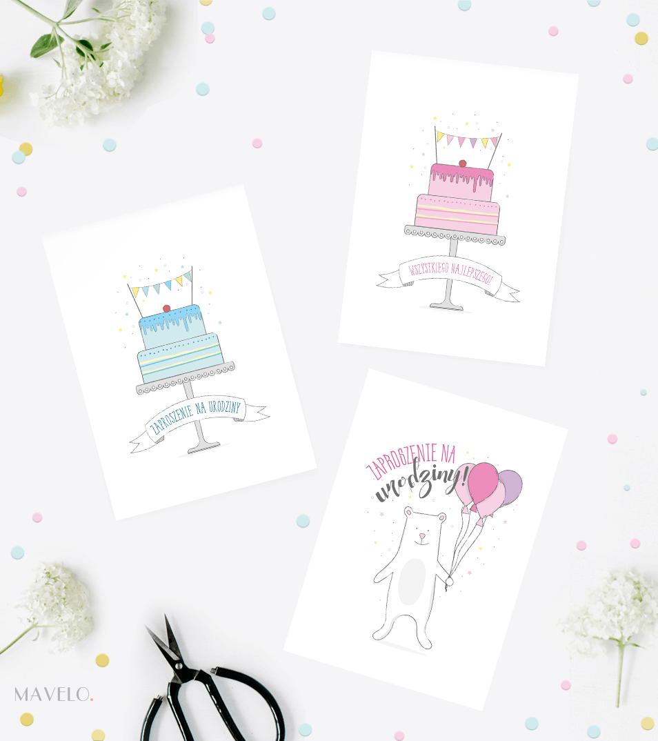 Kartki I Zaproszenia Na Urodziny Do Wydruku Mavelo Tattoos
