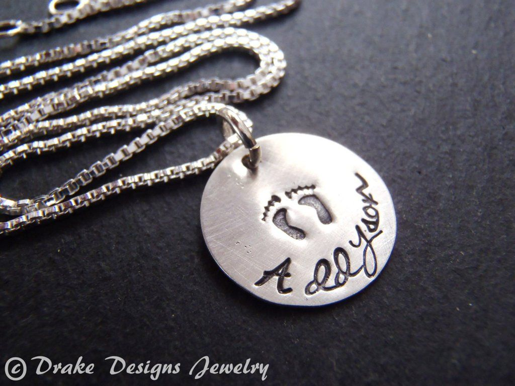 new mom necklace stone for present personalized push baby choices birthdate silver name and gift birth products with date