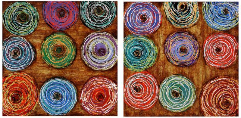 """Color Core 2-Piece 30"""" Square Canvas Wall Art Set -"""