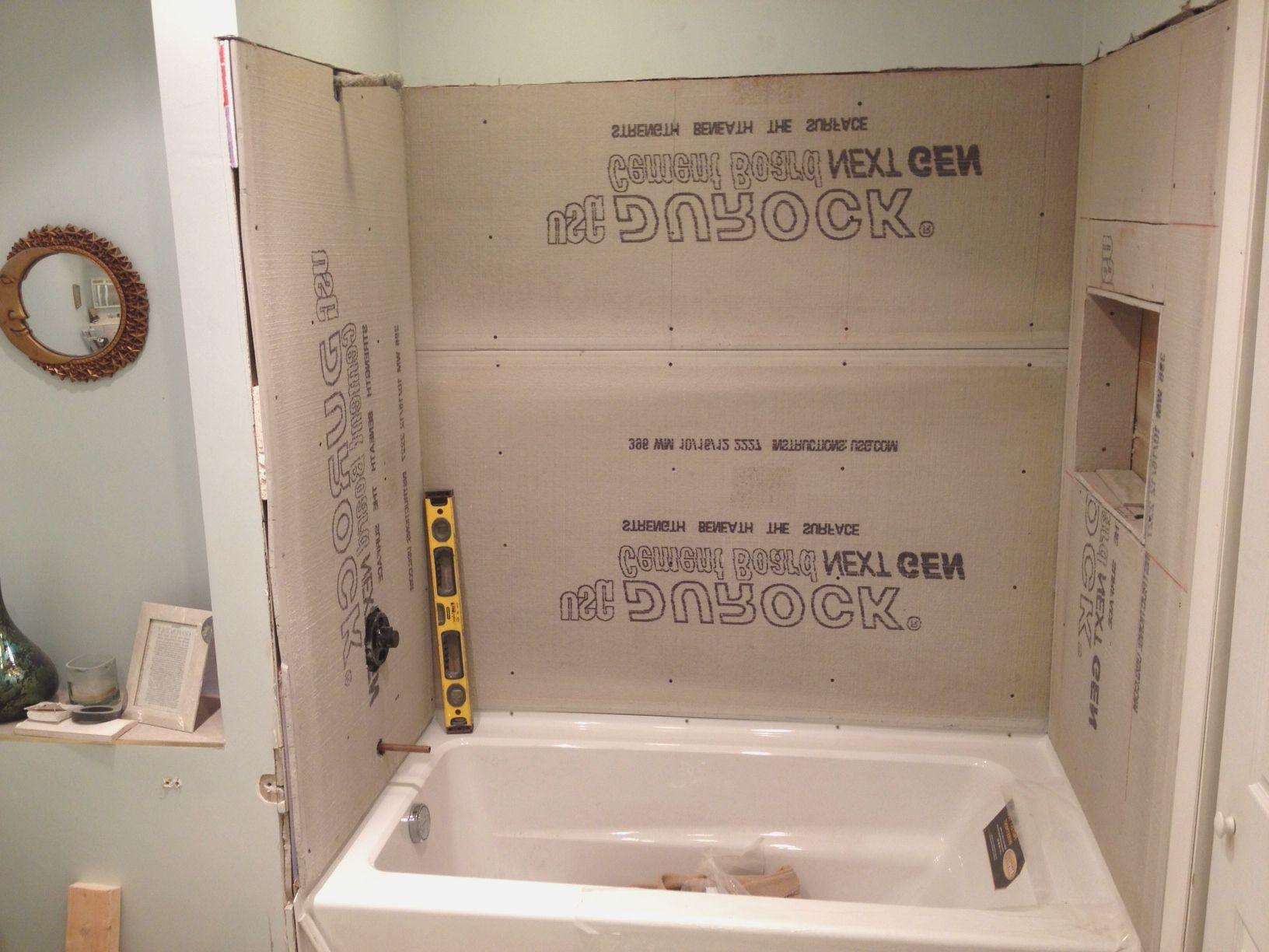 cement board bathroom tile backer board