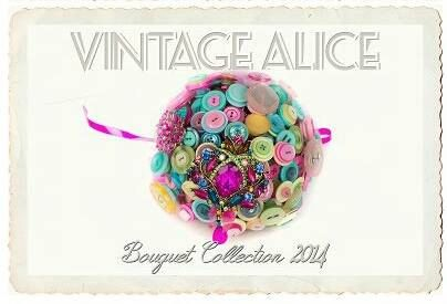 sherbet dip button bouquet by Vintagealice30 on Etsy, £140.00