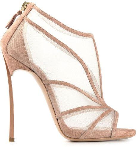 Emmy DE * Casadei Mesh Sandals in Beige (nude & neutrals)