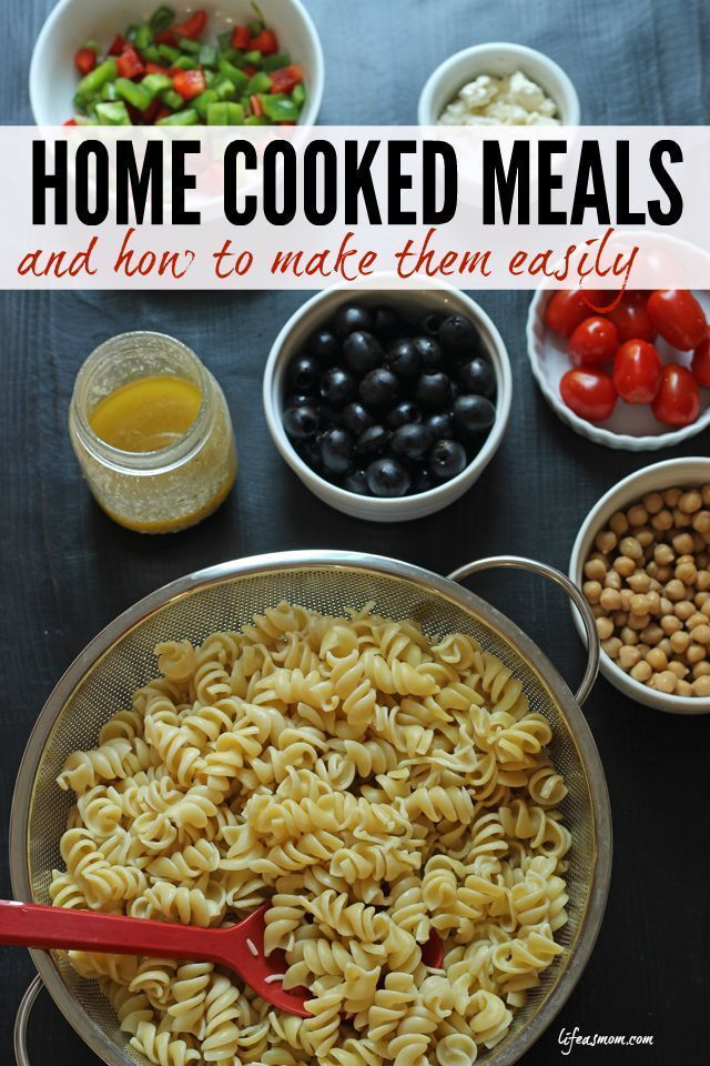 Home Cooked Meals & How to Make Them Easily - follow these tips to help you avoid take-out, save money, and eat well at home! #homecooking #diy #dinner