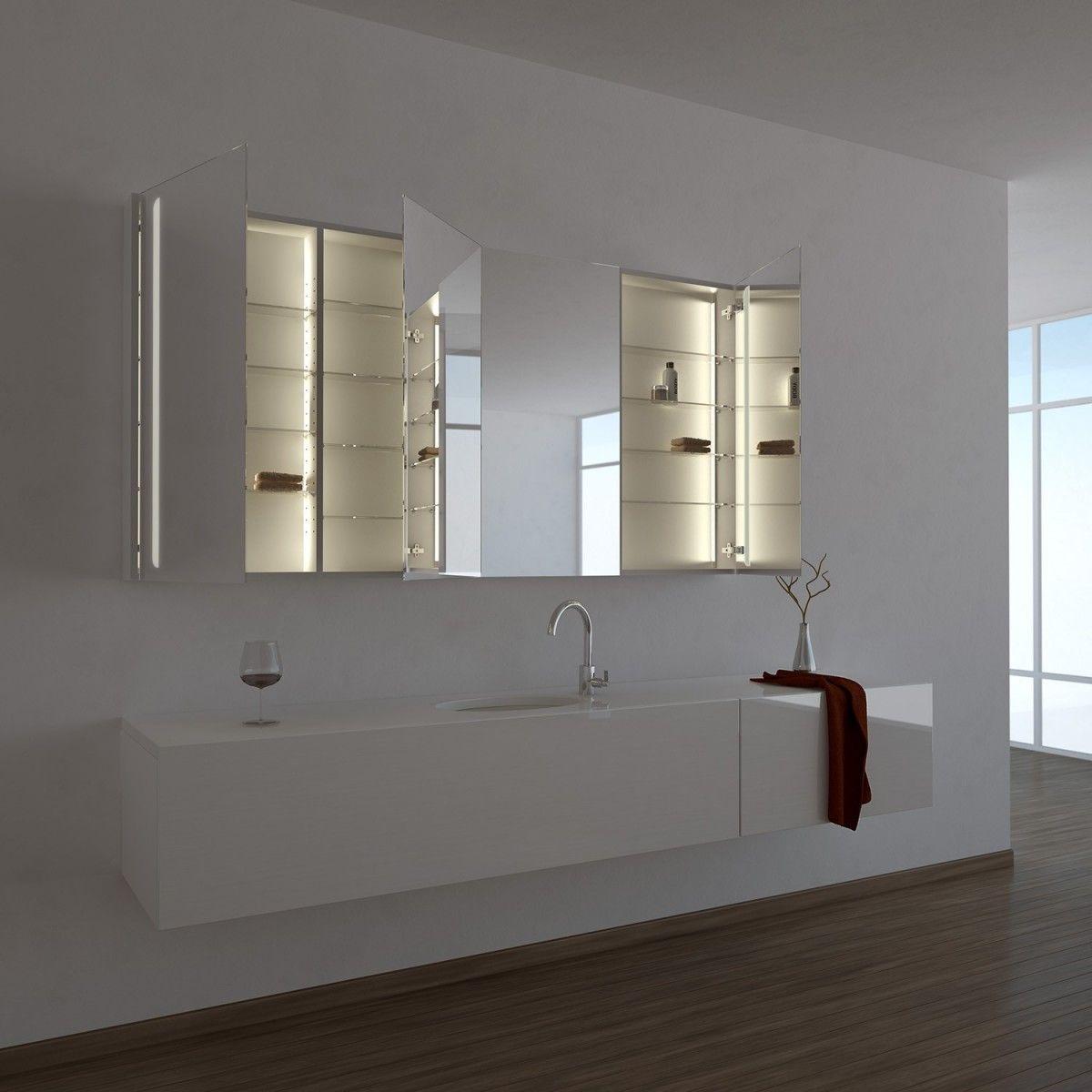 Spiegelschrank Ogrel Mit Led Beleuchtung Spiegelschrank Bad Styling Led Beleuchtung