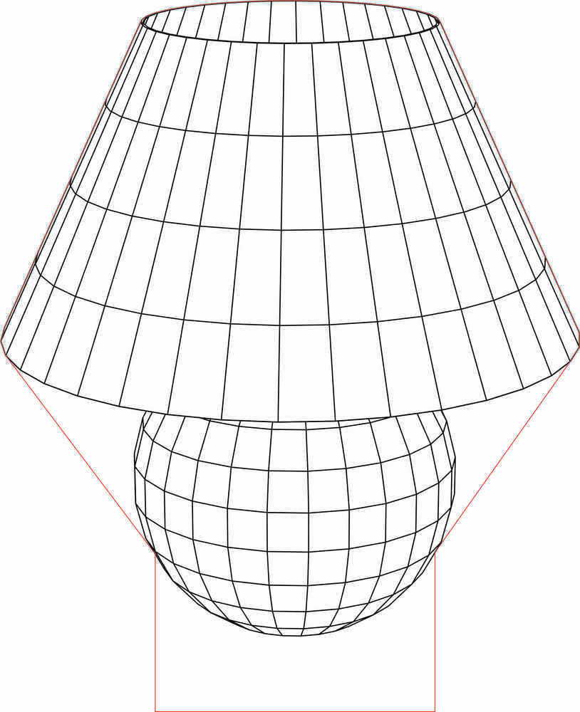 Table lamp for drawing - Table Lamp 3d Illusion Led Lamp Vector File