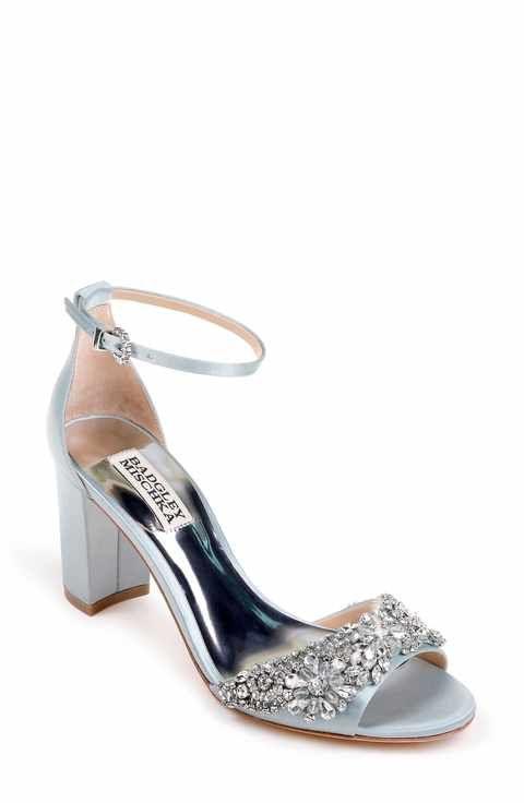 3d280db93ce Badgley Mischka Hines Embellished Block Heel Sandal (Women)