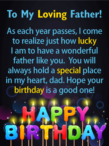 Lucky To Have You Happy Birthday Card For Father Birthday Greeting Cards By Davia Birthday Wishes For Him Dad Birthday Quotes Happy Birthday Quotes For Him