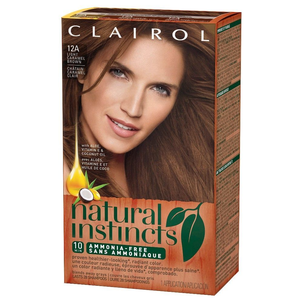 Clairol Natural Instincts Non Permanent Hair Color 4rv 32 Egyptian Plum Burgundy Brown 1 Kit And Products