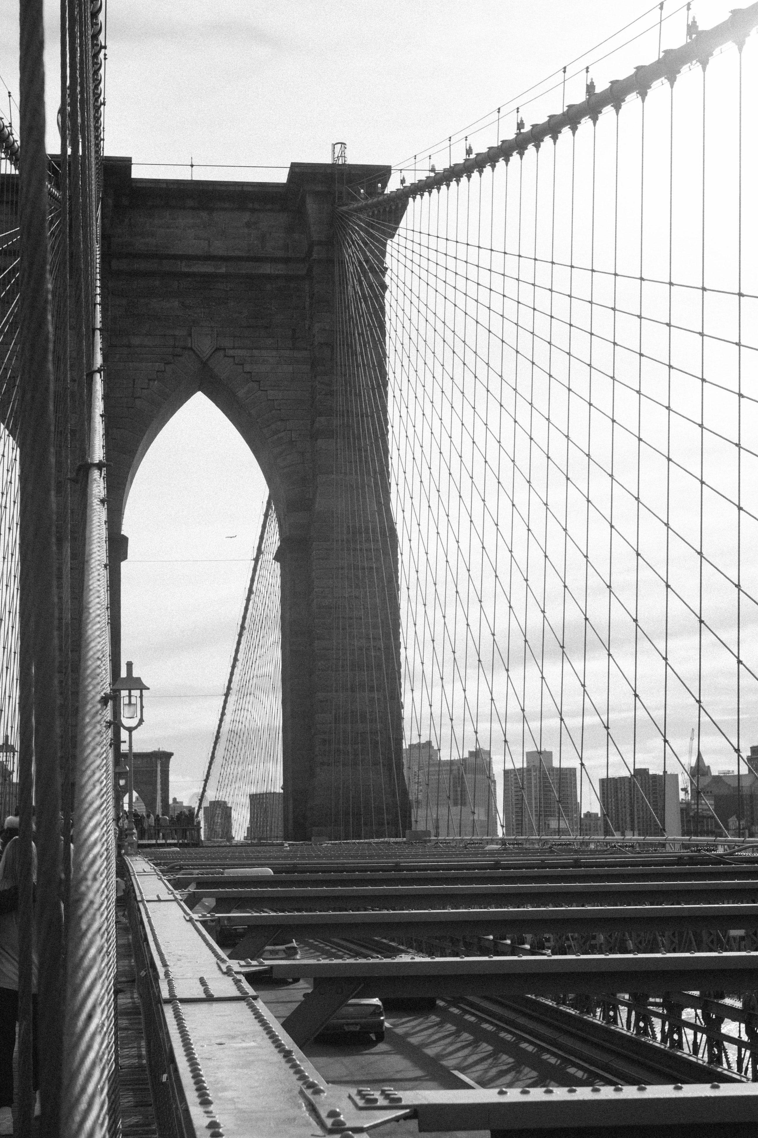 Bridge In Black And White Monochrome Photo Black And White Black
