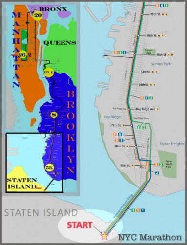 Staten Island Prologue Thoughts For The Start Line Of Nycm Nyc Marathon Nyc Marathon Map New York Marathon
