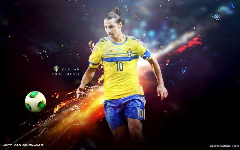 خلفيات زلاتان إبراهيموفيتش بقميص ايه اس ميلان Zlatan Ibrahimovic Sweden Wallpaper
