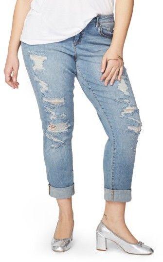 84106963855 Rachel Roy Plus Size Women s Ripped Girlfriend Jeans