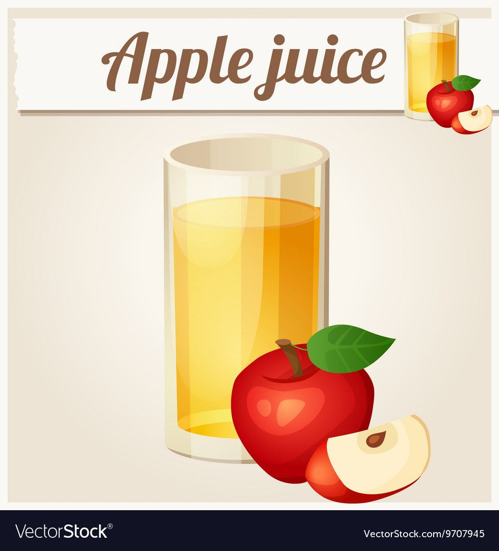 Apple Juice Detailed Icon Royalty Free Vector Image Apple Juice Juice Apple