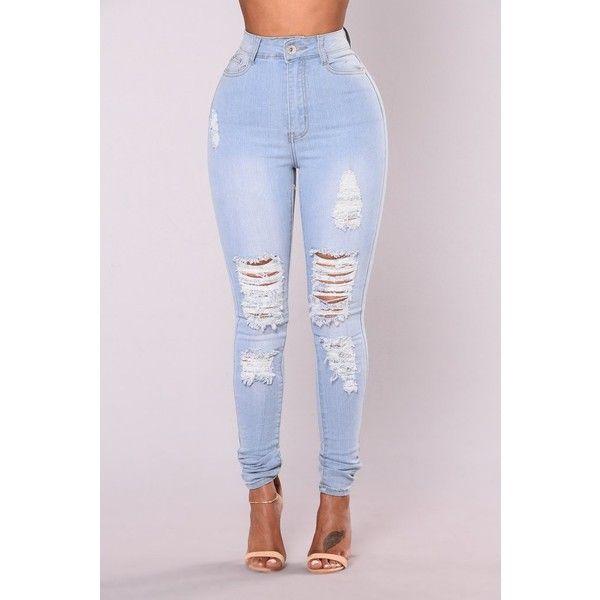 Light wash skinny jeans h&m