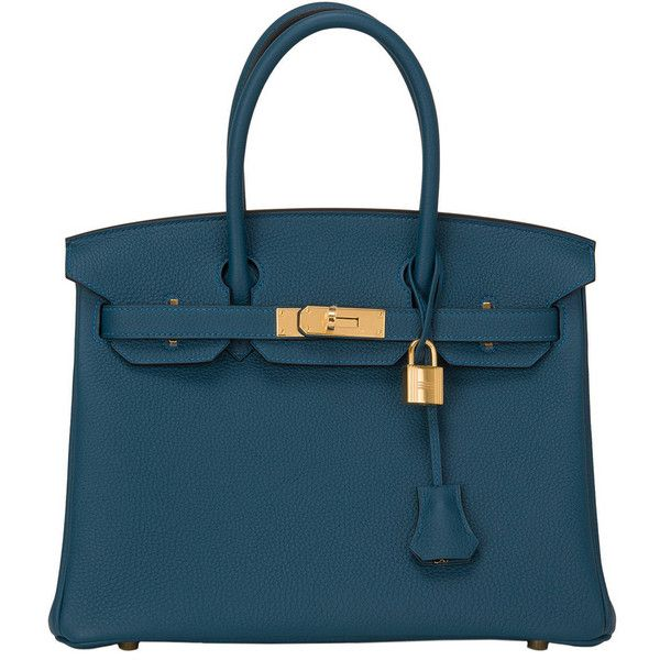329505f563b9 Preowned Hermes Colvert Togo Birkin 30cm Gold Hardware (€19.530) ❤ liked on  Polyvore