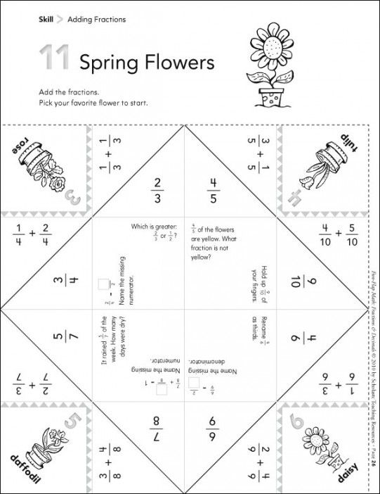 Spring Flowers (Adding Fractions): Fun-Flap Hands-On Math